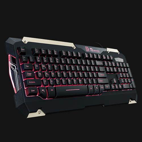 Red Light KB-CMC-PLBDUS-01 Tt eSPORTS Commander Gaming Gear Combo
