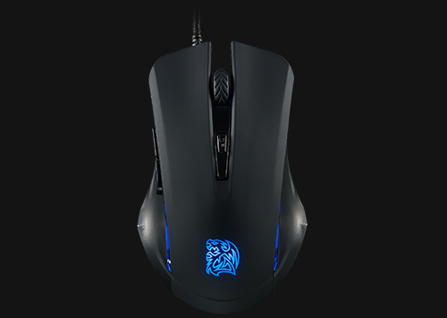 how to turn on the tt commander mouse lights